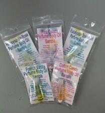 5 Lot Vanilla Coconut Perfume Body Oil Fragrance Samples Or U Pick Scent