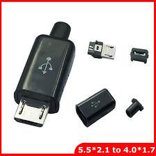 2 PEZZI connettori CONNETTORE VOLANTE a saldare MICRO USB MASCHIO TIPO B