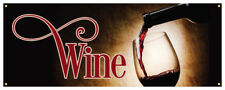 Wine Banner Alcohol Grapes Refreshing Concession Stand Sign 36x96