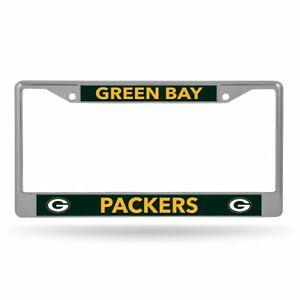 Green Bay Packers Lightweight Chrome Metal License Plate Frame