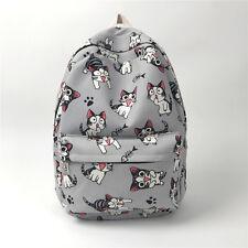 Chi's Sweet Home Carton Cat Backpack Canvas Shoulder Bag