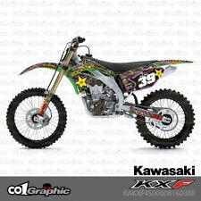2012 KXF 450 GRAPHIC KIT KAWASAKI KX450F RIDGELINE DIRT BIKE MXiSLAND DECALS