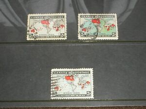 1898 CANADA Stamps QV IMPERIAL PENNY POSTAGE XMAS Set 3 SHADES SG166-SG168 VF