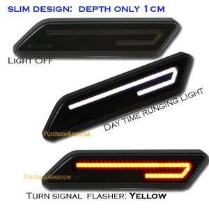 Universal Smoke Lens Side marker LED TUBE FENDER VENT TURN SIGNAL LIGHT Dual