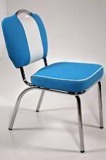 Bistrostuhl Paul 2er Set American Diner 50er Jahre Las Vegas Stühle Blau Weiß