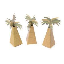 12pcs Rustic Wedding Favor Box Coconut Palm Tree Baby Shower Wedding Gifts Box ^