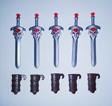 Playmobil Sword and holder × 5, castle knights, vikings spare parts, Brand New