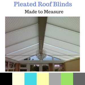 CONSERVATORY PLEATED ROOF BLINDS - FREE P&P*
