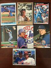 (7) LARRY WALKER EXPOS CARDS, 1992 & 93 STUDIO 1991 SCORE 1992 DONRUSS, FLEER +