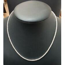 RRP £7500 Certified 4.00Ct Round Diamond Tennis Necklace Hallmarked White Gold