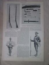 Vintage Print,US CAVALRY RIFLE,Harpers,c1880,Remington