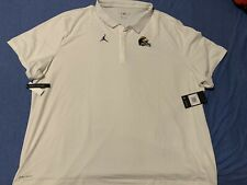 Mens Jordan Brand Football Michigan Wolverines 4XL Polo NWT Winged Helmet Nike