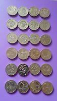 Round £1 One Pound Coin hunt rare Edinburgh, Cardiff, London, Floral, Bridges,