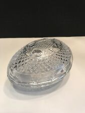 VTG Avon Fostoria 1977 Mother's  Day 2 Pc Glass Egg Trinket Candy Soap Dish