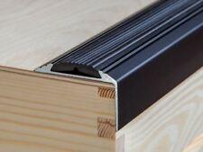 Zwart 150 cm aluminium antislip trappen profiel trapprofiel hoekprofiel trapkant