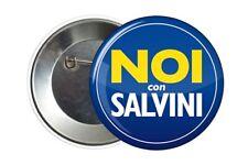 Badge Pin Button 38 mm Lega Noi con Salvini