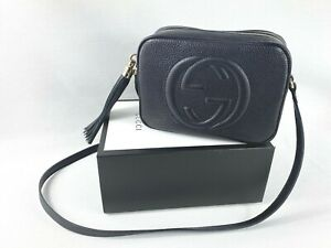 Authentic GUCCI Black Soho Small Leather Disco Bag