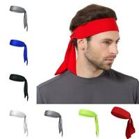 Head Tie Unisex Men Women Headband Outdoor Sport Sweatband Yoga tennis Sweatband