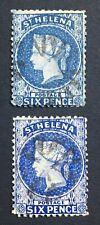 MOMEN: ST HELENA SG #16,16s 1871,1873 USED LOT #60450