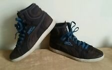 184dc97a3ee4 Puma first round ex mens   ladies older boys   girls brown high top  trainers 5
