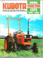 1982 KUBOTA L275 TRACTOR 2WD & 4WD BROCHURE