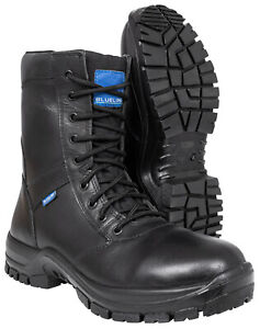 """Blueline 8"""" Waterproof All Leather Boots - Police/Military/Security/Paramedic"""