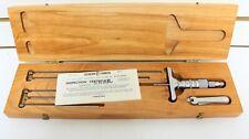 Scherr Tumico Depth Gauge Gage Micrometer 6pc Set In Wooden Case