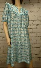 Vintage Dress 70s Geometric Ruffle Mid Length Green Purple House Wilco Melbourne