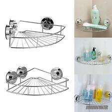 Suction Cup Stainless Steel Corner Basket Shower Caddy Organizer Super Strong AU
