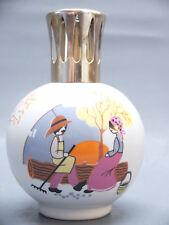 LAMPE BERGER PORCELAINE     DECOR NAIF      CIRCA 1980 CF PEYNET THARAUD