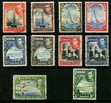 BERMUDA - 1938 KGVI Set to 1/- 'GREEN' FU SG110-115 Cv £20+ [B0978]