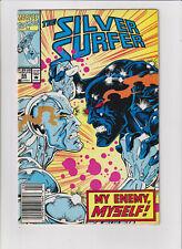 Silver Surfer Marvel Comics #64 FN 6.0 Black Body 1992
