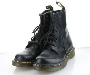 21-28  Women's Sz 6 Dr. Martens 1460 PASCAL VIRGINIA LEATHER BOOTS - Black