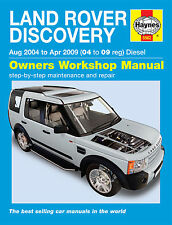 LAND Rover Discovery Serie 3 Diesel 2.7 TD 2004-2009 manuale HAYNES 5562 Nuovo