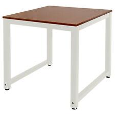 Tisch Computertisch PC Schreibtisch Bürotisch 80 x 80 cm Teak Weiß Kingpower
