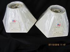 (1) Cream Lampshade 5 x 14 x 8.25 NEW 6 sided Hexagon Lamp Shade Made in USA