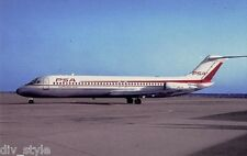 Pacific Southwest Airlines DC-9 jet airplane postcard