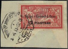 LEBANON-SYRIA 1920 2 pi. SYRIE GRAND LIBAN OVPT ON 40¢ OF FRANCE W/ SOUK UL HABL