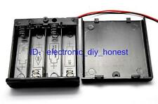 2PCS 4*AA 6V Battery Holder Box Case with cover,switch,wire 4xAA 4x1.5V #SF603