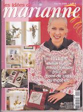 Les idées de Marianne N°117 février 2006 point de croix , tricot, couture