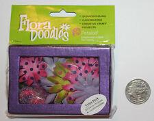 PETALOO Flora Doodles, Daisy Box Blend SM, Purp/Chart/Lav/Fusch, 20 Flowers +Box