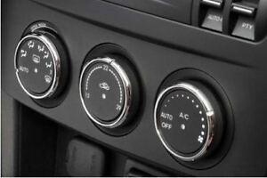 Mazda MX5 Mk3 Aluminium (not chrome plastic) Heater Control Knob Rings Surrounds