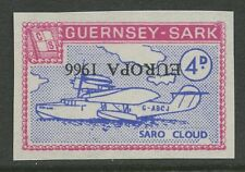 Guernsey SARK 1966 Europa INVERTED PROOF unissued color