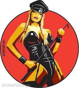 Dominatrix Sticker Decal Poster Art Marco Almera MA36