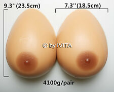 Artificial Huge I Cup Silicone Breast Form TV CD TG Breasts Big Boobs gift 4100g