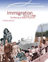 IMMIGRATION SINCE 1788: THE MAKING OF MODERN AUSTRALIA - BOOK  9780864271037 x