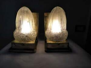 Pair of antique French wall sconces  brass wall light