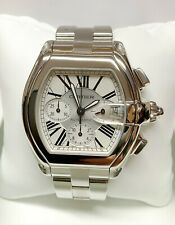Cartier Roadster XL Chronograph W62006X6 SERVICED WITH BOX AND PAPERWORK