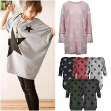Stars Hip Length Batwing Sleeve Tops & Shirts for Women