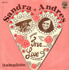 "SANDRA & ANDRES – True Love (1973 VINYL SINGLE 7"" DUTCH PS)"